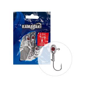 KAMASAKI RED SHOT JIG FEJ 8G 1/0 4DB/CSOMAG
