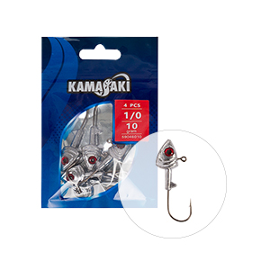 KAMASAKI RIVER PREDATOR JIG HEAD 10G 1/0 4PCS/BAG