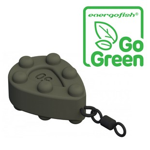 CARP EXPERT LF-STUBBY PEAR EYE AND SWIVEL 80G COLORED ''GO GREEN''