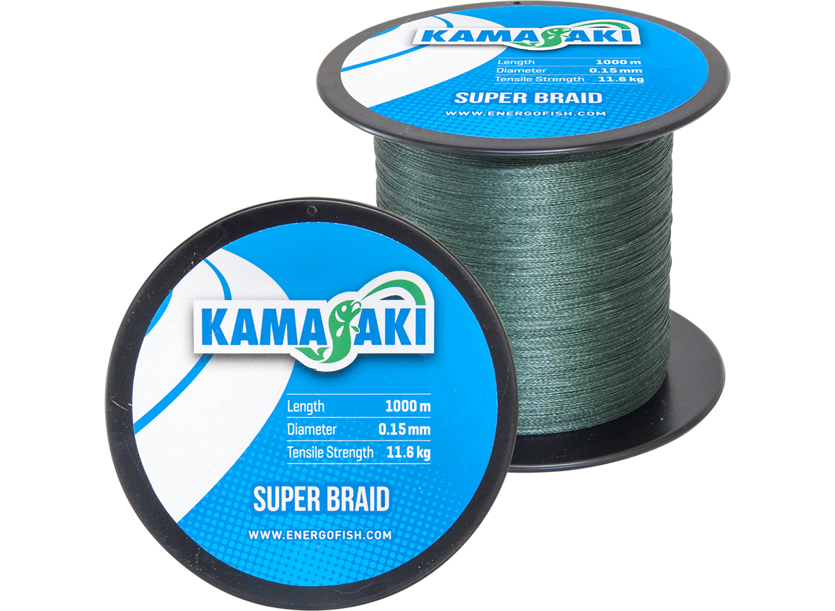 KAMASAKI SUPER BRAID 1000M 0,15MM