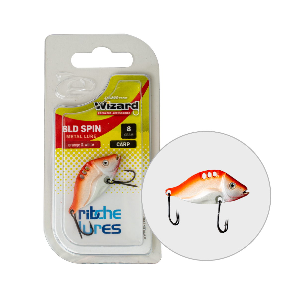 VILLANTÓ WIZARD BLD SPIN CARP 8GR ORANGE & WHITE
