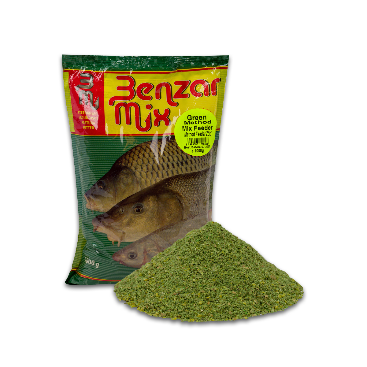 BENZÁR MIX METHOD FEEDER ZÖLD 1KG