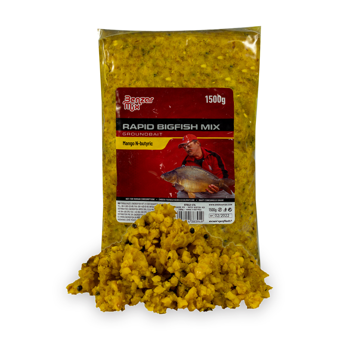 BENZÁR RAPID BIGFISH MIX GROUNDBAIT MANGO VAJSAV 1,5KG