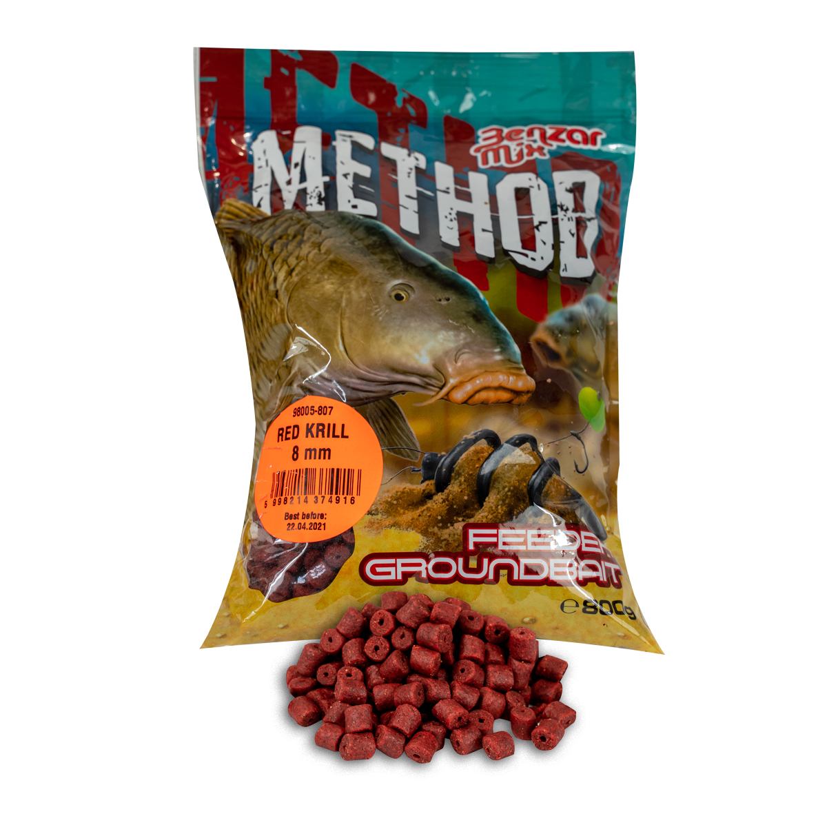 BENZAR MIX SERIA METHOD PELLET 8 MM RED KRILL 800GR