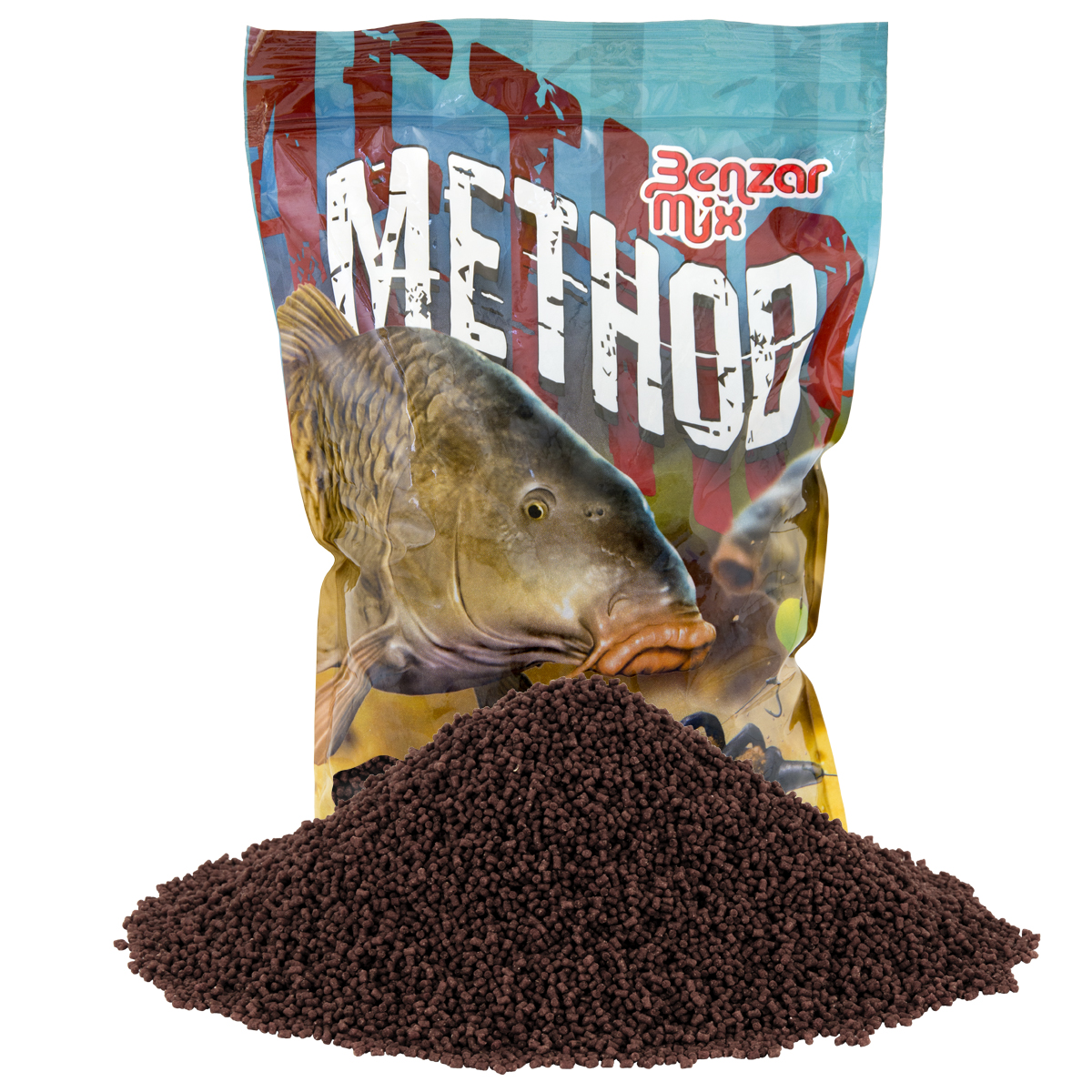 BENZAR MIX METHOD PELLET RED HALIBUT 2MM 800GR