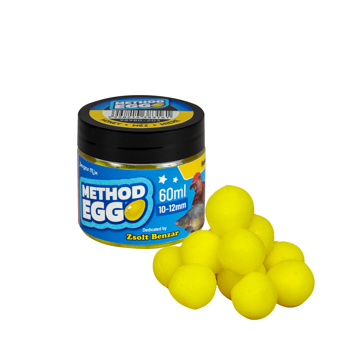 BENZAR METHOD EGG 12MM MÉZ 60ML SÁRGA