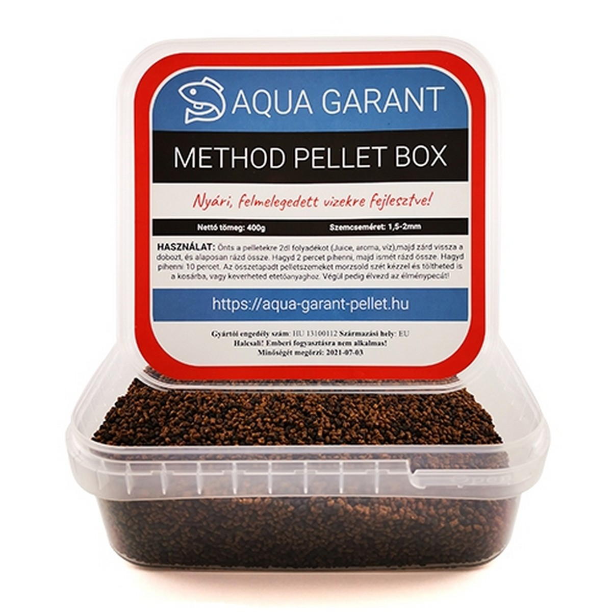 AQUA GARANT METHOD PELLET BOX NYÁRI 400G