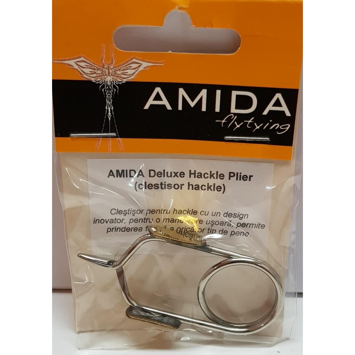 AMIDA DELUXE HACKLE PLIER (CLESTISOR HACKLE)