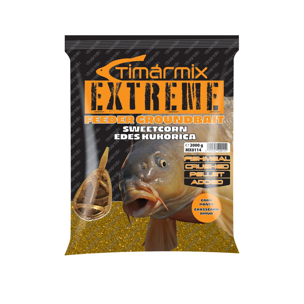 TÍMÁR MIX EXTREME FEEDER GROUNDBAIT SWEET CORN 2KG
