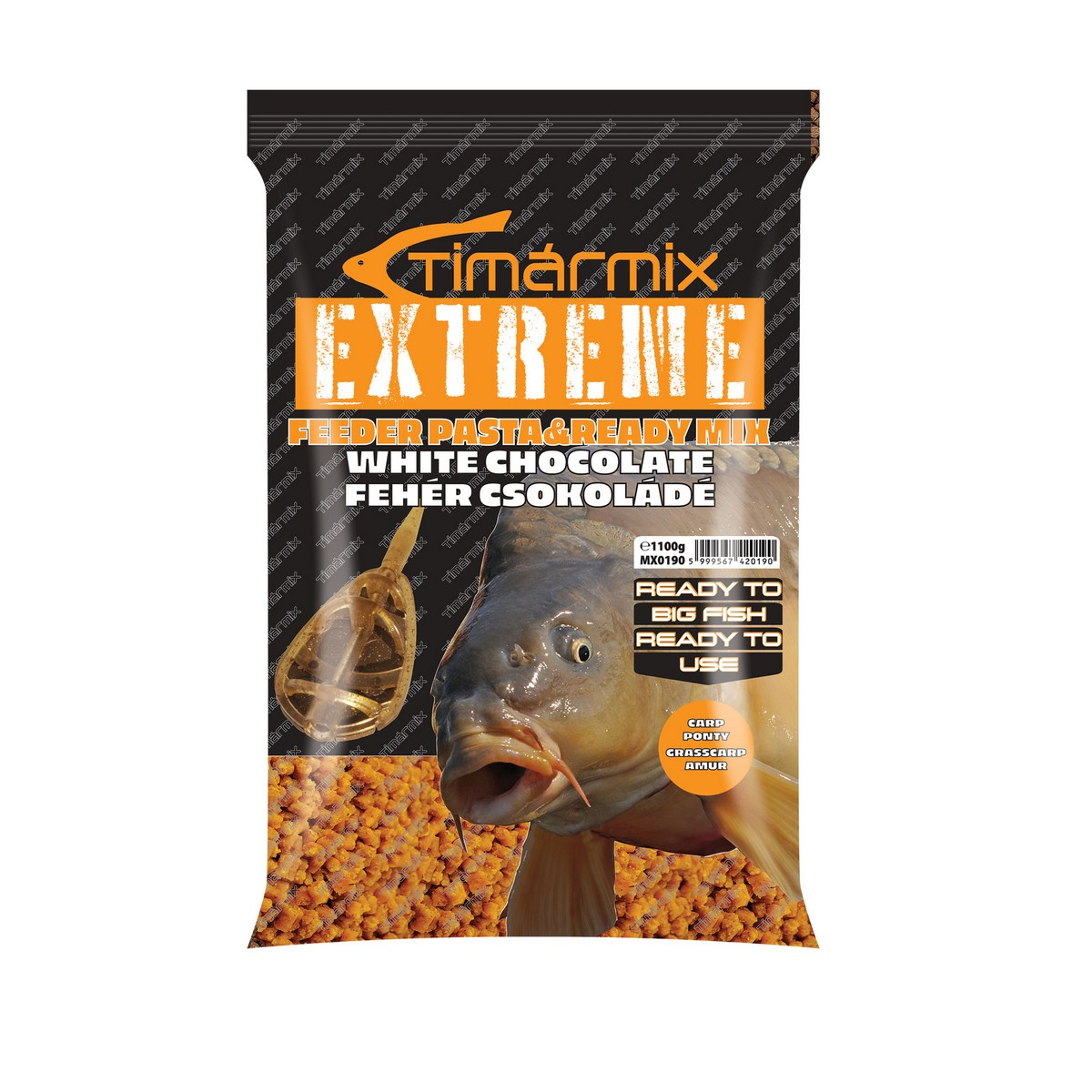TÍMÁR MIX EXTREME FEEDER PASTA & READY BRUTAL CORN MIX WHITE CHOCO 1100 GR