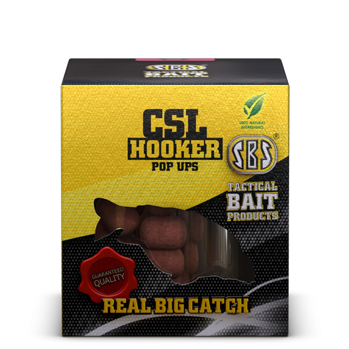 SBS CSL HOOKER POP UPS BLACK CAVIAR 100 GM 16 MM