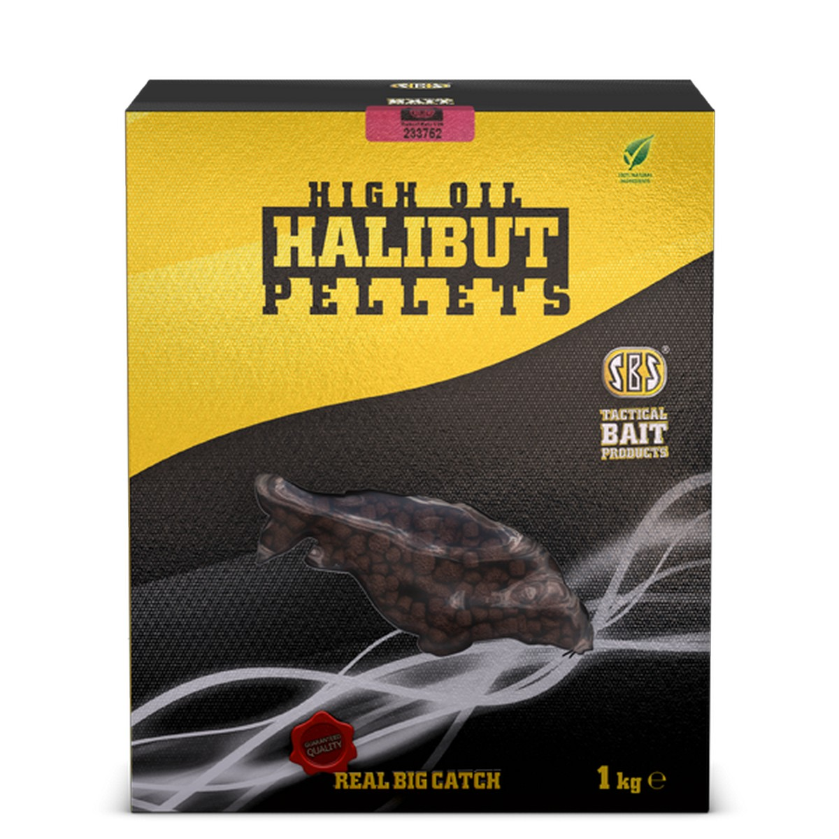 SBS HIGH OIL HALIBUT PELLETS FISH 1 KG 4 MM