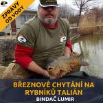 Březnové chytání na rybníků Talián