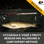 Vycházka k vodě s pruty Benzar Mix Allround a Carp Expert Method Feeder