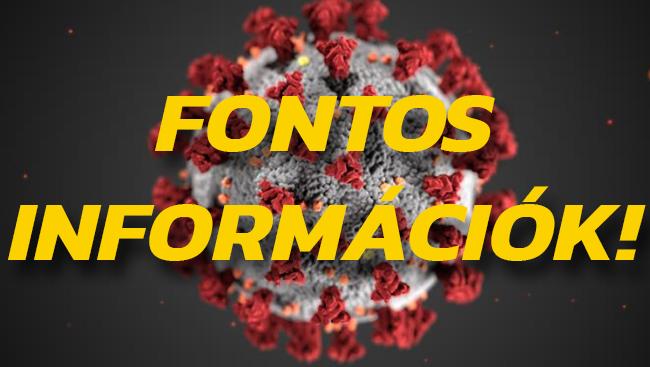Fontos információk: Működésünk a koronavírus járvány ideje alatt!
