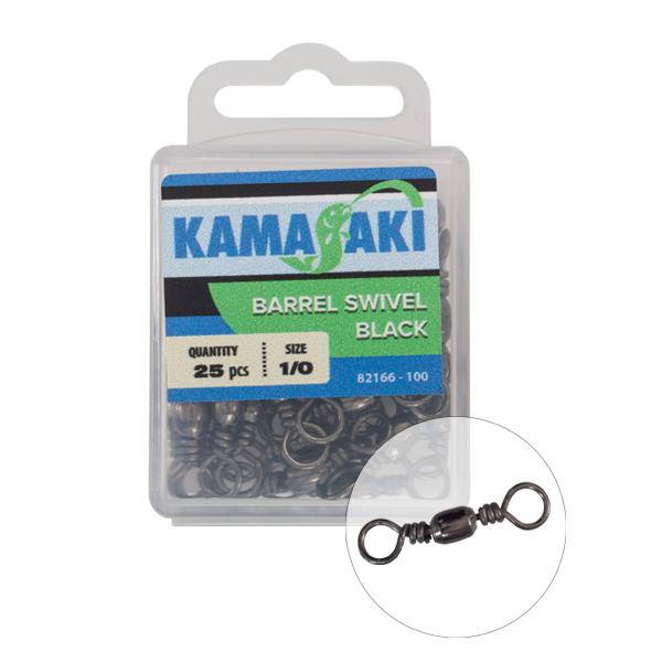KAMASAKI FORGÓ FEKETE NR 2/0 20DB/CS