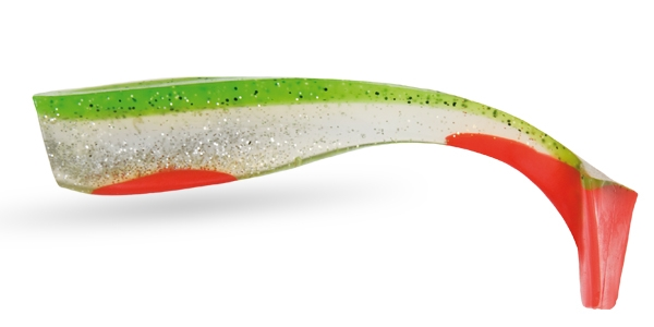 WIZARD ENERGY SHAD 5 GREEN/CLEAR/RED