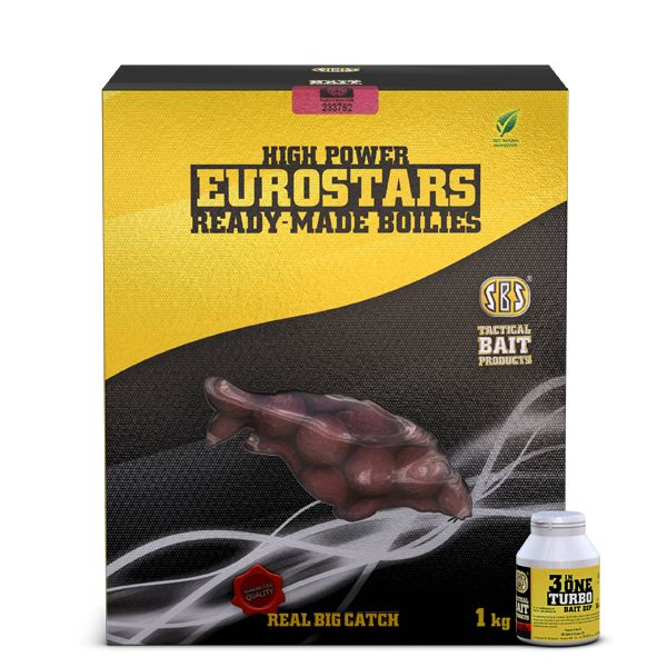 SBS EUROSTAR READY-MADE BOILIES + 50 ML 3 IN ONE TURBO BAIT DIP 60037