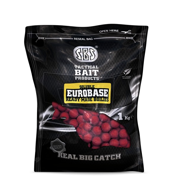 SBS Soluble EuroBase Ready-Made Boilies Garlic 1 kg 24 mm