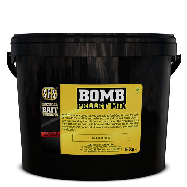 SBS Bomb Pellet Mix Krill Halibut 5 kg