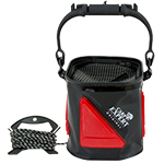 BUCKET SET BLACK AND RED